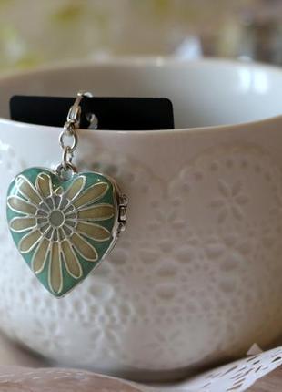 Медальон шарм сердце pilgrim дания элитная ювелирная бижутерия ручной работы