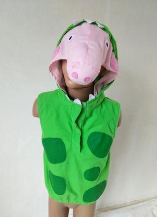 Карнавальный костюм джордж свинка пеппа дракончик 3-5 лет
