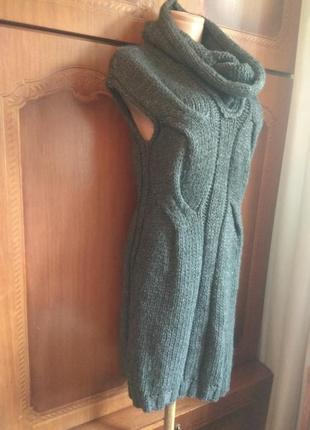 Вязаное крутое, брендовое платье, туника без рукавов)