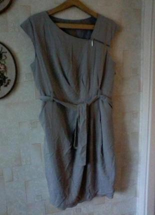 Платье-футляр из лиоцелла, от autograph, винтаж, разм.48