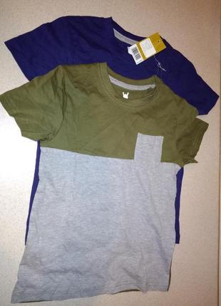 Хлопковая футболка 122/128 на 6/8 лет pepperts германия.