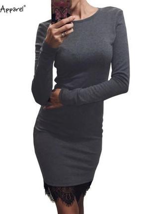 Tezenis (итаалия) трикотажное платье с кружевом