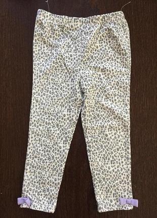 Нові лосінки для дівчинки в леопардовий прінт disney 2-3 р