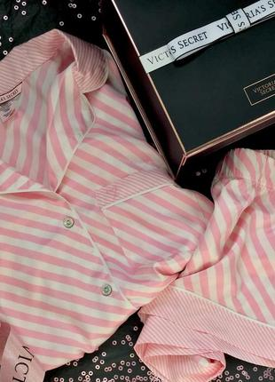 Сатиновая атласная пижама одежда для сна и дома виктория сикрет оригинал