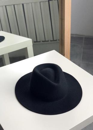 Чёрная фетровая шляпа, 58 см диаметр