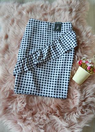 Акция! 1+1=3  новая короткая юбка с воланом atmosphere