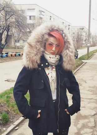 Пальто парка куртка весеннее осеннее демисезонное