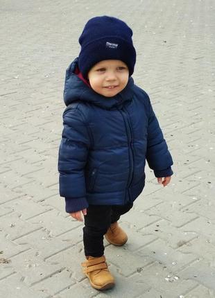 Куртка с капюшоном и шапка весна-осень 12-18мес. 80-86см.