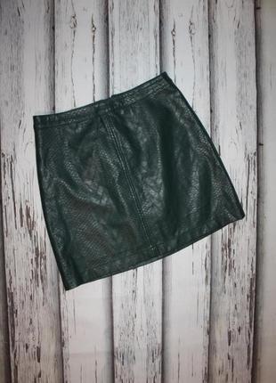 Зеленая юбка кож-зам f&f р. м