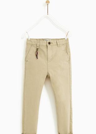 Новые брюки чинос популярного бренда zara штаны