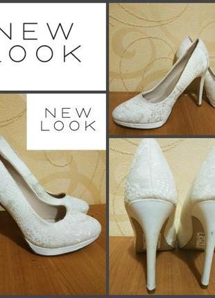 Туфли от new look, оригинал , р. 40, пр-во камбоджа