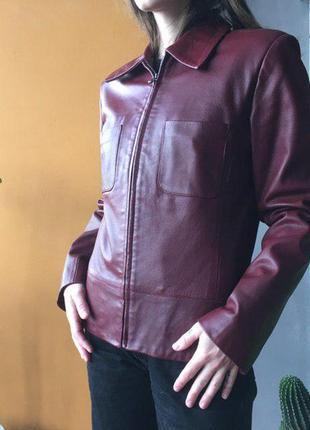Винтажная кожаная куртка skin valley