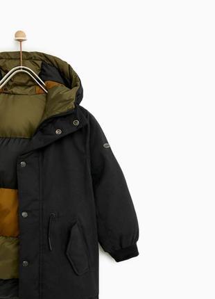 Новая демисезонная куртка популярного бренда zara парка пуховик двухсторонняя
