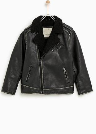 Новая демисезонная куртка популярного бренда zara косуха байкерский жакет кожанка авиатор