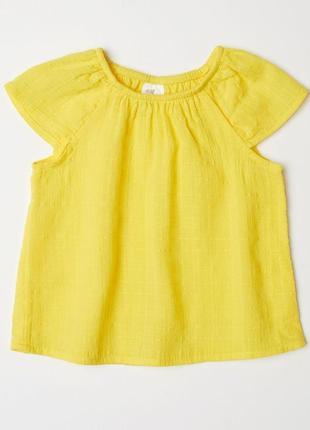 Новая желтая футболка для девочки, h&m, 0591736