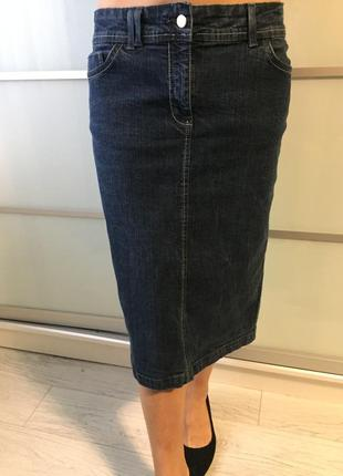 Джинсовая юбка прямого кроя от next next