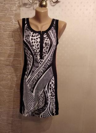 Трикотажное коттоновое платье marc cain sport germany