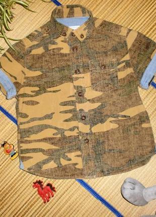 Рубашка с коротким рукавом для мальчика 3-4года john rocha