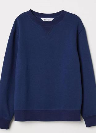 Новый темно-синий свитшот для мальчика, h & m, 0554141