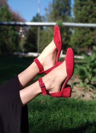 Туфли из натуральной кожи(замши) производитель украина . каблук 4см