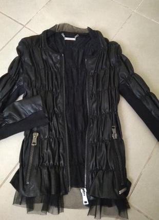Кожаная куртка twin-set