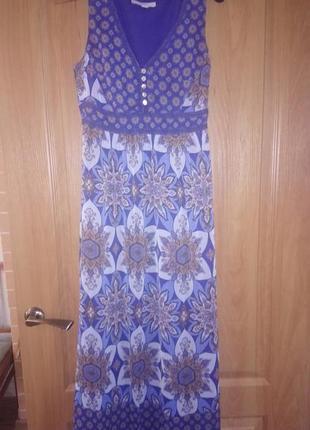 Длинное легкое платье