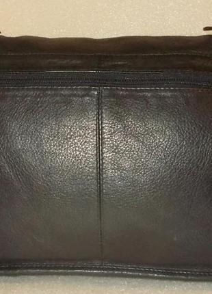 Крупная мужская сумка (почтальон) натуральная кожа2
