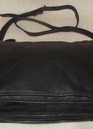 Крупная мужская сумка (почтальон) натуральная кожа4
