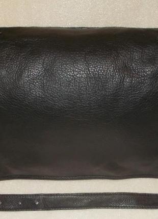 Крупная мужская сумка (почтальон) натуральная кожа5