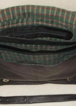 Крупная мужская сумка (почтальон) натуральная кожа6