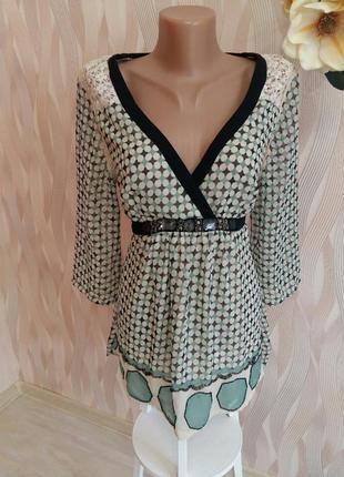 Блуза шифоновая с бисером