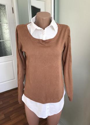 Джемпер +рубашка