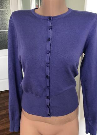 Джемпер модный с атласным пуговками кардиган