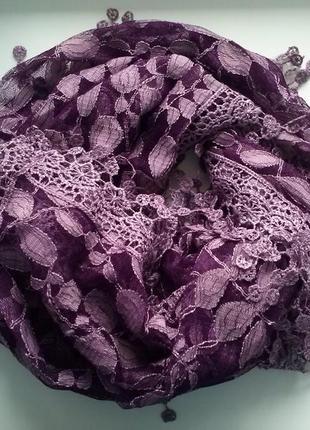 Женский весенний летний шарф шаль шёлк вискоза