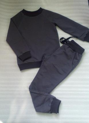 Костюм трикотажный, штаны, свитшот