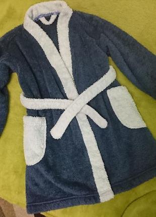 Флисовый плюшевый халат на 3-4 года