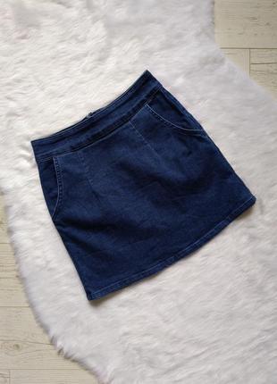 Базовая джинсовая юбка по фигуре р. xs