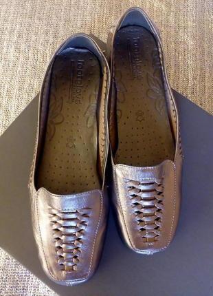 Кожаные, супер удобные, плетённые туфли на танкетке с супенатором