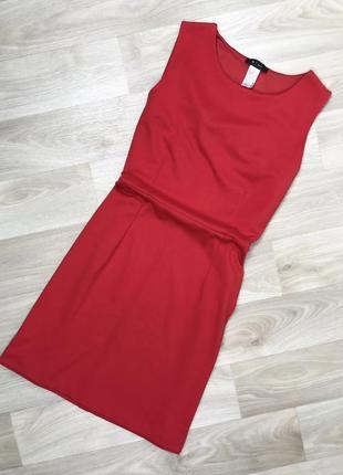 Красное классическое платье r edition