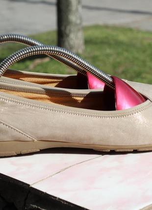 Балетки, туфли gabor 38-39 кожа