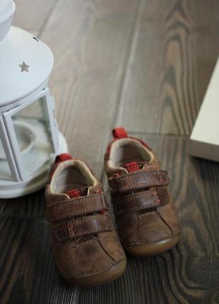 Кожаные мокасины кроссовки на липучках