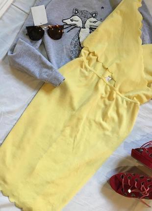Платье футляр канареечного цвета от missguided