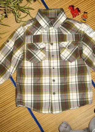 Рубашка брендовая с длинным рукавом для мальчика 3года