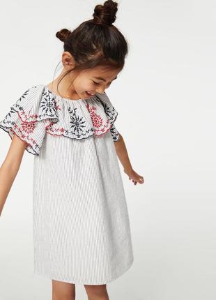 Летнее лёгкое платье zara размер 134