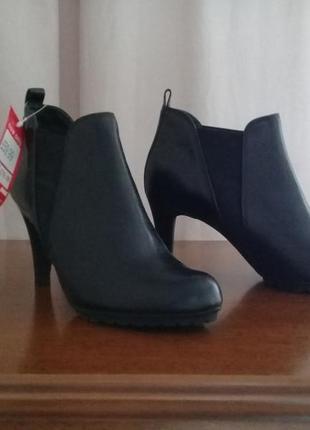 Ботильоны  ботинки кожа удобные элегантные р. 38 от clarks