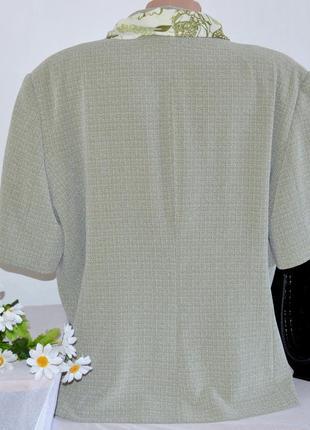 Брендовый пиджак жакет блейзер с шарфом klass collection большой размер этикетка3 фото