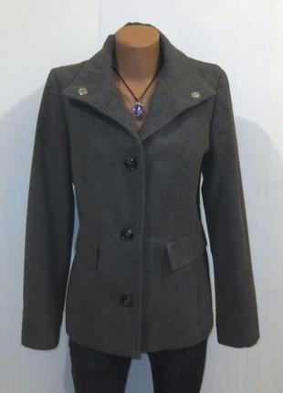 Стильное серое пальто бушлат с шерстью от vero moda размер: 50-52, xl