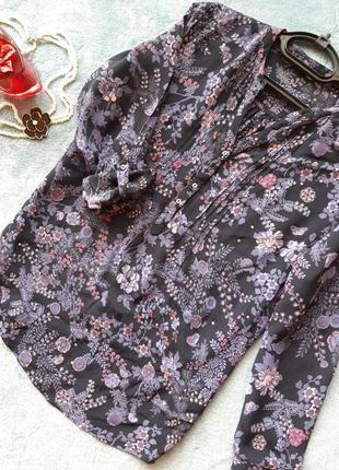 Стильная рубашка в цветы