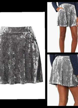 Шикарная велюровая юбка  topshop