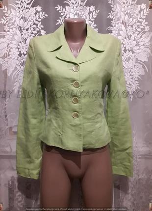 Пиджак/жакет с натуральной ткани в нежно салатовом цвете, размер с-м